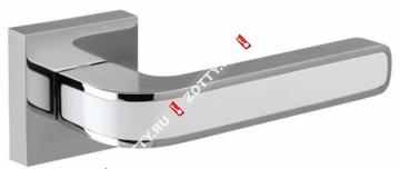 Ручка раздельная NEO DM CP/WH-19 (Белый/хром)