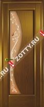 Межкомнатные двери Ульяновские двери ФЛОРА (Стекло Канадский Дуб)