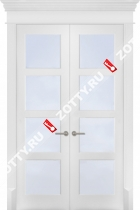 Дверь двустворчатая Квадро 4 ст