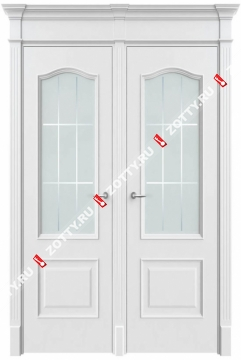 Дверь двустворчатая Милан 2 ДО (с багетом) 2