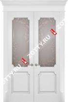 Дверь двустворчатая Палермо ДО (с патиной)