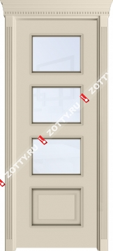 Дверь Квадро ДО багет 1 (3 стекла)