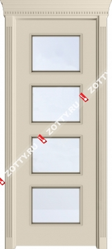 Дверь Квадро ДО багет (4 стекла)
