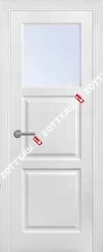 Дверь окрашенная ТРИО 1 ДО (1 стекло, верхнее)