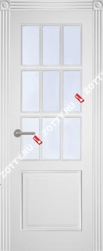 Дверь с багетом Классика 1 ДО (9 стёкол)