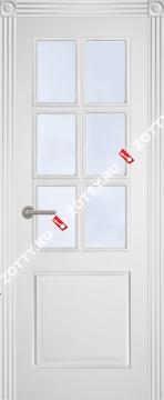 Двери Классика ДО багет (6 стекол)