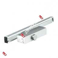 Дверной доводчик DL100S size 3 со скользящей тягой (Серебро)