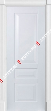 Дверь белая Турин 3 ДГ