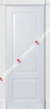 Дверь белая Классика 3 ДГ