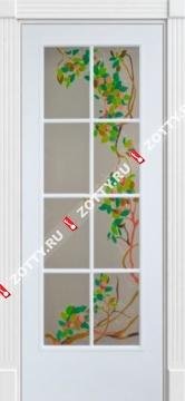 Дверь ДЛ8 (стекло с рисунком)