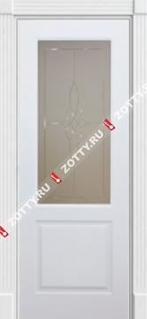 Дверь Классика 2 ДО (гравировка на стекле)