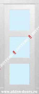 Дверь окрашенная ТРИО стекло