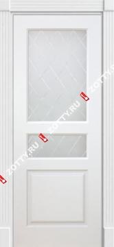 Дверь ТУРИН 2 ДО (2 стекла верхних)