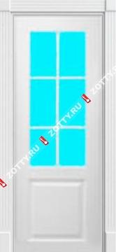 Дверь окрашенная КЛАССИКА стекло (решетка)