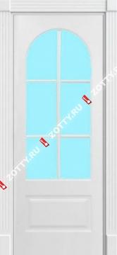 Дверь окрашенная мод. Прованс 1007 стекло (решетка)
