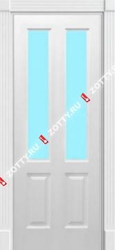 Дверь окрашенная мод. Прованс 1091 стекло (2 верхних)
