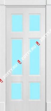Дверь окрашенная ЦЕЗАРЬ стекло (6 стекол)