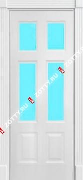 Дверь окрашенная ЦЕЗАРЬ стекло (4 стекла)