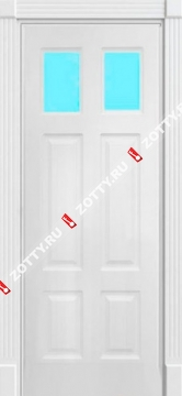Дверь окрашенная ЦЕЗАРЬ стекло (2 стекла)