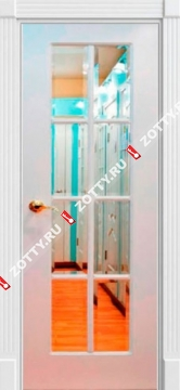 Дверь окрашенная Мадрид ДО (8 стекол)