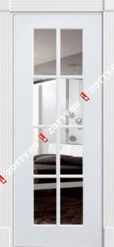 Дверь окрашенная ПОРТА (8 стекол) Зеркало