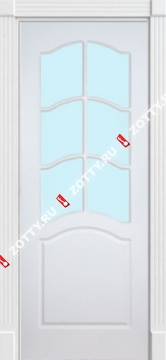 Дверь белая ДО (ДАР) (серия Ампир)