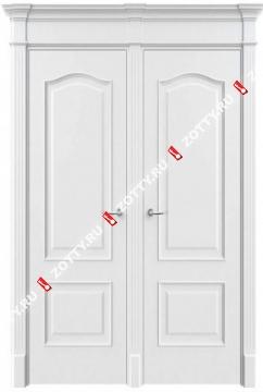 Дверь двустворчатая 13 (с багетом)