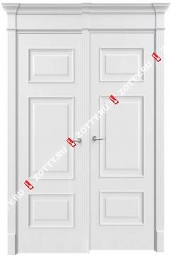 Дверь двустворчатая 14 (с багетом)