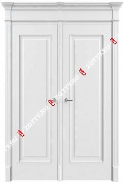 Дверь двустворчатая Порта 2 ДГ (с багетом)
