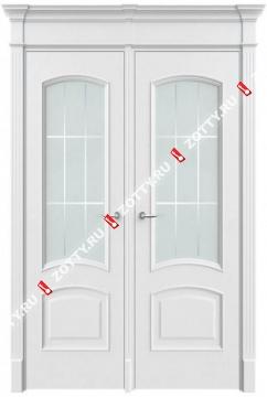 Дверь двустворчатая Милан 2 ДО (с багетом)