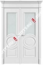 Дверь двустворчатая Олимп 2 ДО (1 стекло) (с багетом)