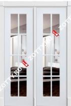 Дверь двустворчатая Порта ДО (8 стекол)