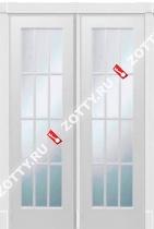 Дверь двустворчатая ПОРТА (12 стекол)