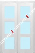 Дверь двустворчатая ТРИО стекло