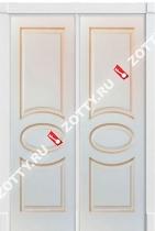 Дверь двустворчатая Олимп (+ патина золото)