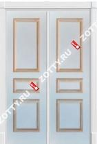 Дверь двустворчатая ТУРИН 2 патина золото