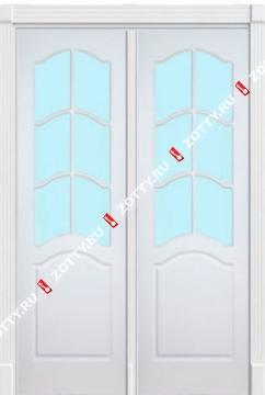 Дверь двустворчатая модель ДОН