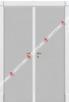 Двери модель ДГГ двустворчатая