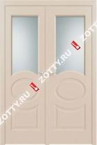 Дверь ДО ОЛИМП 6 RAL 1013 двустворчатая
