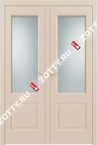 Дверь ДО Классика 6 RAL 1013 двустворчатая