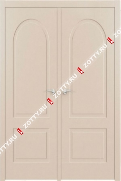 Дверь ДГ АРКА 6 RAL 1013 двустворчатая