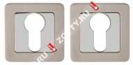 Накладка под цилиндр ET QR SN/CP-3 матовый никель/хром
