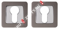 Накладка под цилиндр PUNTO ET QR GR/CP-23 (Графит/хром)