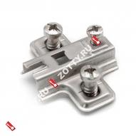 Подкл. д/петли H-0 евро 12 с квадр. отв. FGV (Хром)