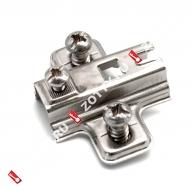 Подкл. для петли H-2 с евро 12 с квадр. отверстием FGV (Хром)