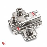 Подкл. для петли H-2 с евро 14 c квадр. отверстием FGV (Хром)