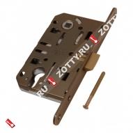 Замок межкомнатный AGB под цилиндрич. механизм B01103.50.22 (Бронза красная)